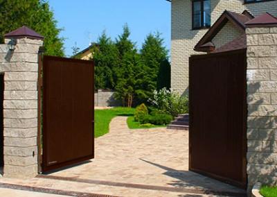 Распашные ворота стандартных размеров