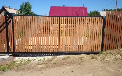 откатные ворота с.Култаево
