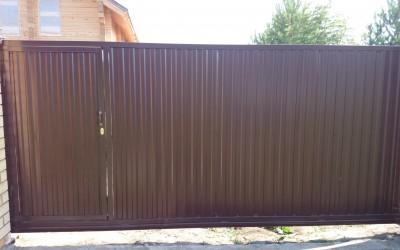 откатные ворота д.Нестюково